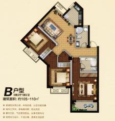 B户型三房2厅2卫