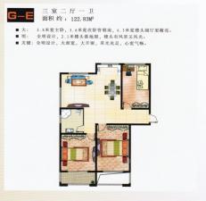 G-E户型三室二厅